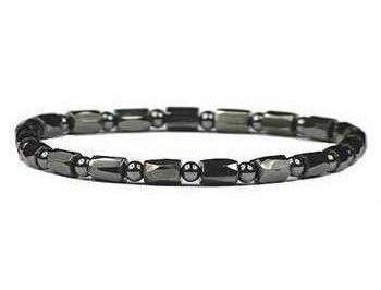Extra Strength Hematite Round Diamond Cut - Magnetic Therapy Anklet (AM1107AK)