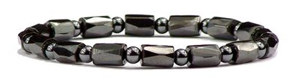 Hematite Diamond Cut Round - Magnetic Therapy Bracelet (ESHB-03) - DISCONTINUED