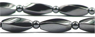Hematite Twist - Magnetic Therapy Necklace (ESHN-01) - DISCONTINUED