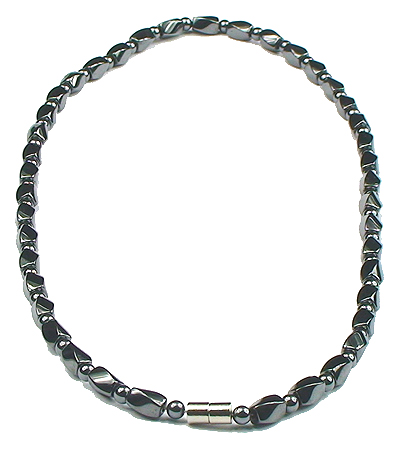 Hematite Shaped Twists - Magnetic Therapy Necklace (ESHN-04)