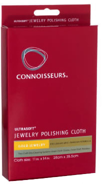 "Connoisseurs UltraSoft Gold Jewelry Polishing Cloth (8"" x 10"") - Jewelry Care Products"