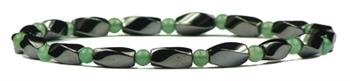 Simulated Jade Hematite Anklet  - Magnetic Therapy Anklet (HA-J)