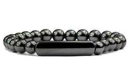 Hematite Large Center - Magnetic Therapy Bracelet (HB-20)