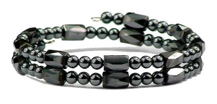 All Hematite Small Wrap Around - Magnetic Therapy Bracelet-Anklet (HB-27)