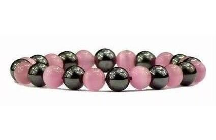 Hematite Pink - Magnetic Therapy Bracelet (HB-PKCE)