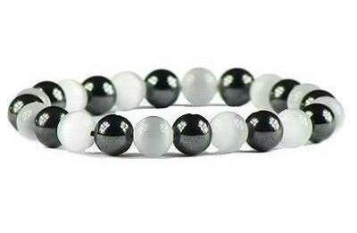 Hematite White - Magnetic Therapy Bracelet (HB-WCE)