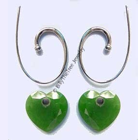 Polar Jade Heart Earrings (1942)