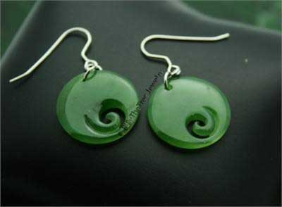 Jade Koru (Spiral) Earrings (HNW-2877)