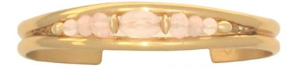 Rose Quartz - Sergio Lub Handmade Solid Copper Cuff Bracelet (lub8223) - DISCONTINUED
