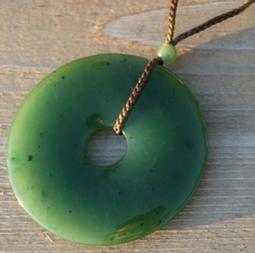 Jade A Grade Pi (Donut) Pendant (Multiple Sizes) (UJ-HNW-PI)