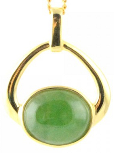 Jade Pendant w/Oval Stone (P0828) - DISCONTINUED