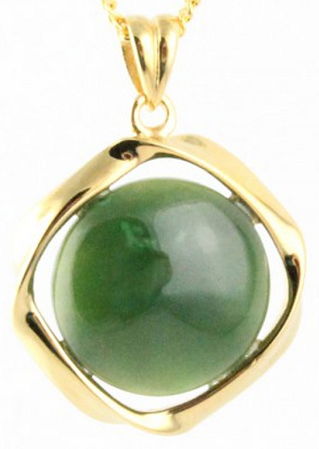 Twisted Metal w/ Round Jade Pendant (Multiple Options) (P0017)