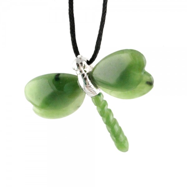 Jade Dragonfly Pendant (Multiple Options) (UJKK-1231)