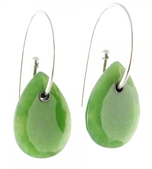Polar Collection AA+ Jade Pear Shaped Earrings