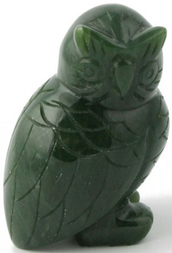 Jade Owl Figurine (Multiple Options Available) (HNW-057)