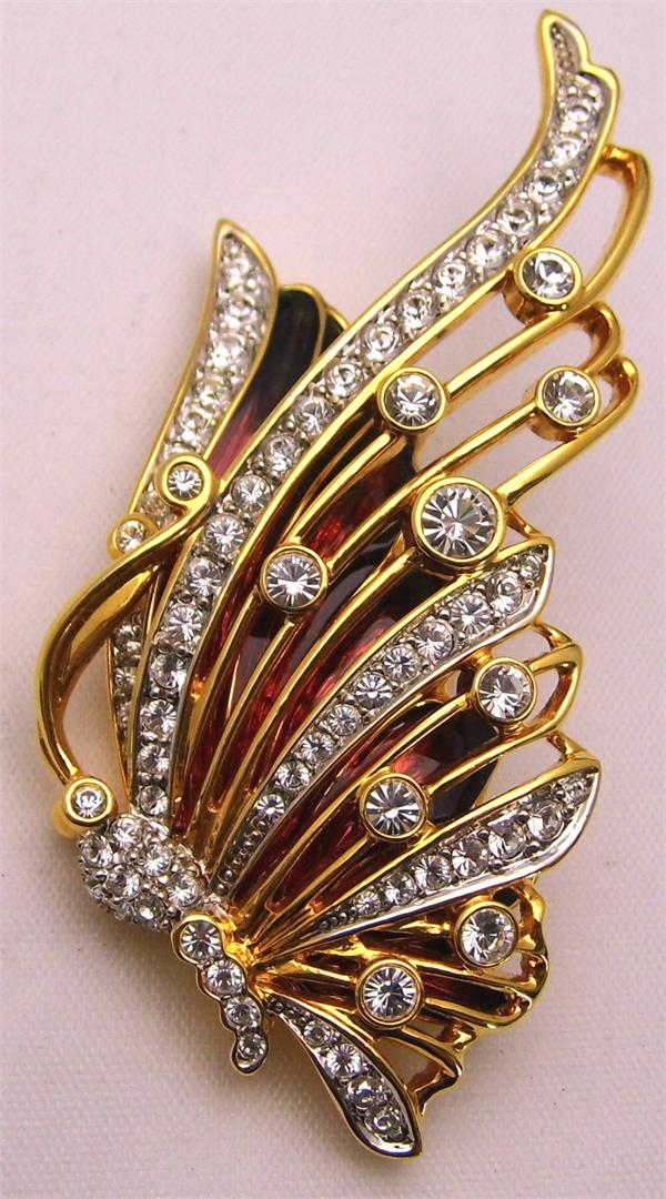 Gold Plated Nolan Miller RARE Butterfly Pin - Vintage / Estate Collection - SOLD