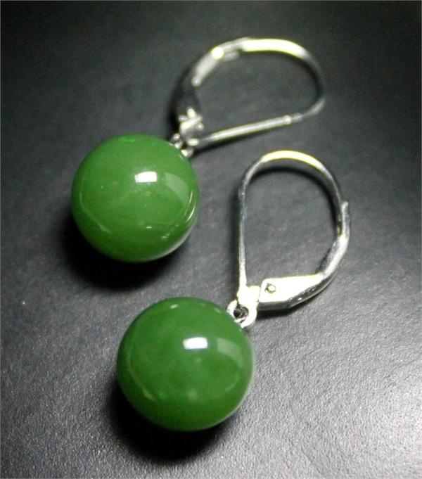 Jade Bead Dangle Earrings (UJKK-2681)