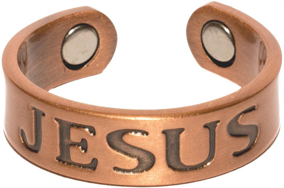 Copper Jesus - Magnetic Therapy Ring (CCR-111)