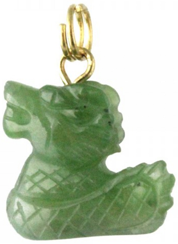 Jade Dragon Charm