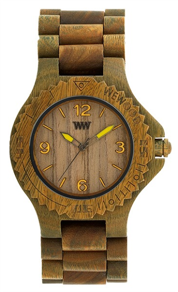 WeWood Wooden Watch - Kale Army/Lime (wwood510) - DISCONTINUED