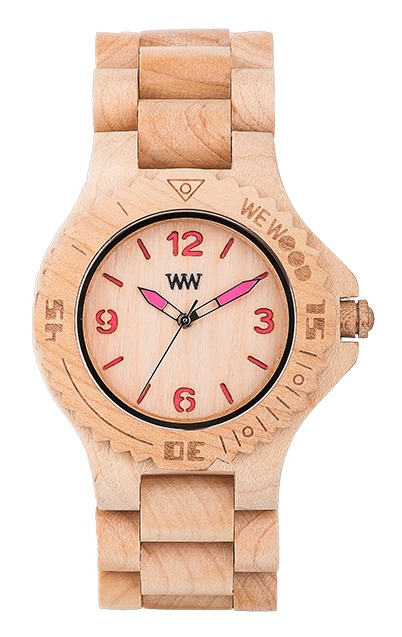 WeWood Wooden Watch - Kale Beige/Pink (wwood310) - DISCONTINUED