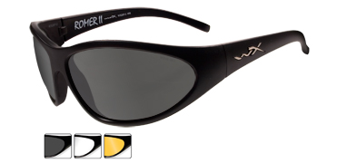 Wiley X Sunglasses - Romer II Advanced Matte Black with Smoke Grey/Clear/Light Rust Lens - Changeable Series