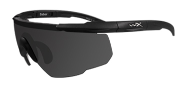 Wiley X Sunglasses - Saber Advanced Matte Black with Smoke Grey Lens - Changeable Series
