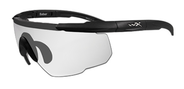 Wiley X Sunglasses - Saber Advanced Matte Black with Clear Lens - Changeable Series