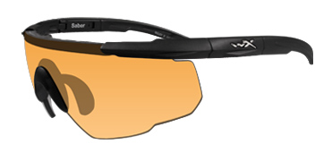 Wiley X Sunglasses - Saber Advanced Matte Black with Smoke Grey/Light Rust Lens - Changeable Series