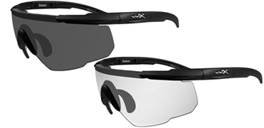 Wiley X Sunglasses - Saber Advanced - 2 Matte Black Frames with Smoke Grey/Clear Lens - Changeable Series