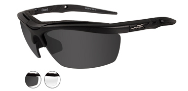 Wiley X Sunglasses - Guard Matte Black with Smoke Grey/Clear Lens - Changeable Series