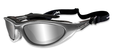 Wiley X Sunglasses - Blink Aluminum Gloss with Grey Silver Flash Lens - Climate Control Series - LIMITED STOCK