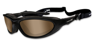 Wiley X Sunglasses - Blink Matte Black with Polarized Copper Lens - Climate Control Series - DISCONTINUED