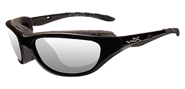 Wiley X Sunglasses - Airrage Gloss Black with Clear Lens - Climate Control Series