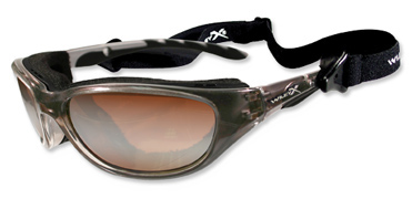 Wiley X Sunglasses - Airrage Crystal Bronze with Bronze Flash Lens - Climate Control Series - DISCONTINUED