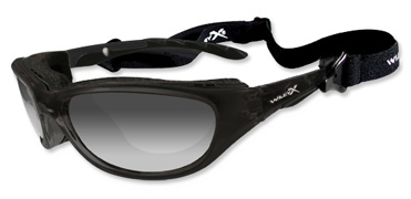Wiley X Sunglasses - Airrage Gloss Black with Light Adjusting Grey Lens - Climate Control Series