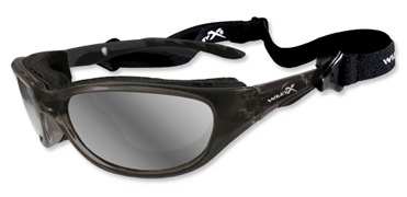 Wiley X Sunglasses - Airrage Crystal Metallic with Polarized Silver Flash Lens - Climate Control Series