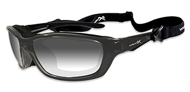Wiley X Sunglasses - Brick Metallic Black with Light Adjusting Grey Lens - Climate Control Series