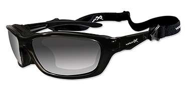 Wiley X Sunglasses - Brick Gloss Black with Polarized Grey Lens - Climate Control Series
