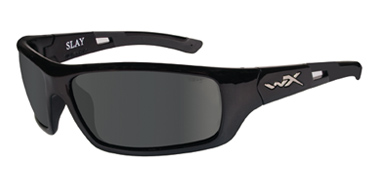 Wiley X Sunglasses - Slay Gloss Black with Polarized Smoke Grey Lens - Active Series
