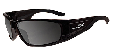 Wiley X Sunglasses - Zak Gloss Black with Polarized Smoke Grey Lens - Active Series