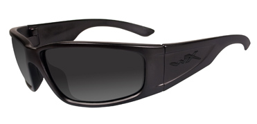 Wiley X Sunglasses - Zak Black Ops/Matte Black with Smoke Grey Lens - Active Series - DISCONTINUED