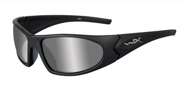 Wiley X Sunglasses - Zen Matte Black with Polarized Silver Flash Lens - Active Series - DISCONTINUED