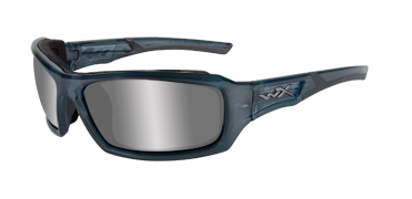 Wiley X Sunglasses - Echo Smoke Steel Blue with Silver Flash Lens - Climate Control Series