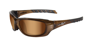 Wiley X Sunglasses - Gravity Brown Crystal with Bronze Flash Lens - Climate Control Series