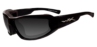 Wiley X Sunglasses - Jake Gloss Black with Smoke Grey Lens - Climate Control Series - DISCONTINUED
