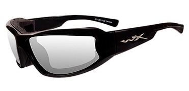 Wiley X Sunglasses - Jake Gloss Black with Clear Lens - Climate Control Series