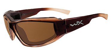 Wiley X Sunglasses - Jake Gloss Brown Fade with Polarized Bronze Lens - Climate Control Series- DISCONTINUED