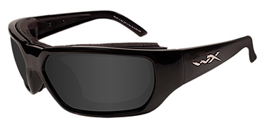 Wiley X Sunglasses - Rout Gloss Black with Smoke Grey Lens - Climate Control Series