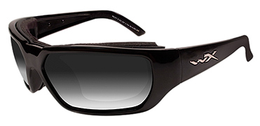 Wiley X Sunglasses - Rout Gloss Black with Light Adjusting Smoke Grey Lens - Climate Control Series